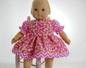 15 inch doll clothes made to fit dolls such as Bitty Baby and Corolle 14 inch baby doll, Pink Dragonfly Dress, 01-0812