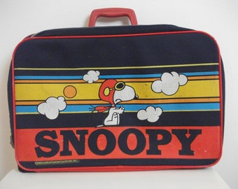 70s Snoopy Childrens Suitcase