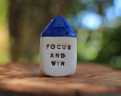 Motivational gifts Inspirational quote house Miniature house Motivational quotes Focus and Win Holiday gift