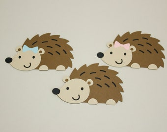 Paper Hedgehogs, Set of 6, Woodland Party, Baby Shower