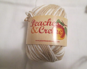 Peaches and Cream Cotton Yarn - 4 colors to choose from