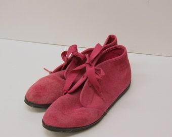 Vintage Hot Pink Ked Booties 7M