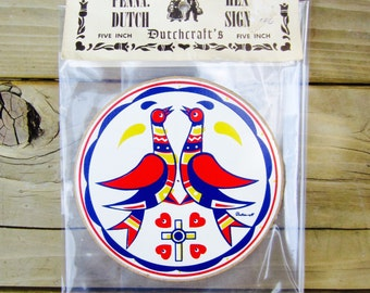 Vintage Hex Sign Doves of Peace Marriage Friendship Dutchcraft's