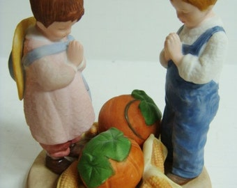 Thanksgiving Figurine by Jessie Willcox Smith - Avon - 1986