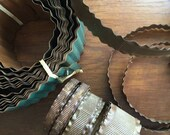 Destash metal trim rusty patina altered art supplies