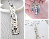 Loss of Brother, Memorial gift ideas, Memorial necklace, Remembrance jewelry, Memorial jewelry, Sympathy Gift, Sterling silver, gift