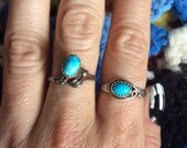 Vintage Natural Turquoise Sterling Silver Ring