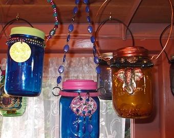 Hanging Solar Mason Jars