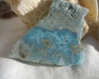 Larimar Slab #12 - Healing - Twin Flame - Atlantis Stone