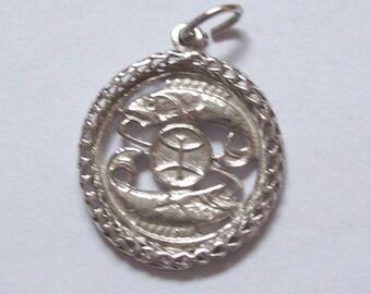 Pisces Sterling Silver Charm Vintage