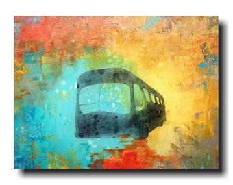 Large painting abstract industrial  wall art  - 18 X 24 Inches JMJartstudio birthday gift -Moving forward -paintings - Oil painting
