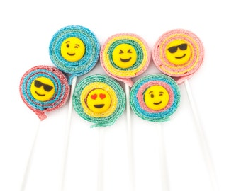 Emoji Sour Lolli's - 10