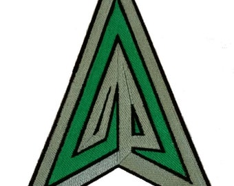 Green Arrow inspired embroidery icon patch for your DIY needs, applique, original artwork