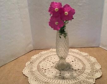 Vintage E O Brody Crystal Bud Vase Home Decor