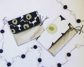 Marimekko Unikko Fabric Clutch evening bag