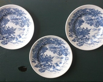 Set of 3 Wedgwood Countryside Bread and Butter Plates, Made in England