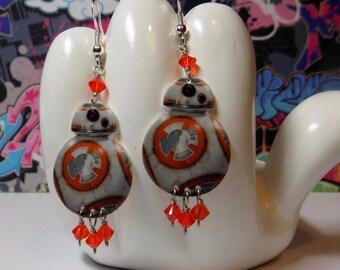 Star Wars The Force Awakens BB8 Dangle Earrings