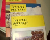 Western Horseman Magazine,  Stock Horses, Vintage Horse Magazines Total of four,  Horse Products and Supplies,  Cowboy fashion clothing