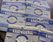 Vintage Viewmaster Reels with Original Envelopes 1950's Total of Ten Reels Various Mixed Reels