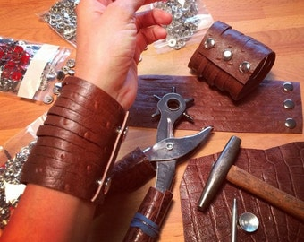 Leather CUFF Bracelet Small Straps