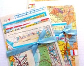 Vintage Map Ephemera Pack / Vintage Atlas / 15 Pieces / Paper Ephemera / Junk Journal / Daily Planner