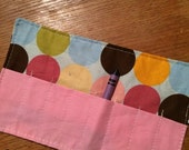 Spring sale sale sale Crayon Roll up circles on blue