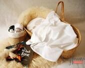 Moses basket, Bugaboo bassinet sheets organic baby bedding beige hedgehog design on white cotton jersey