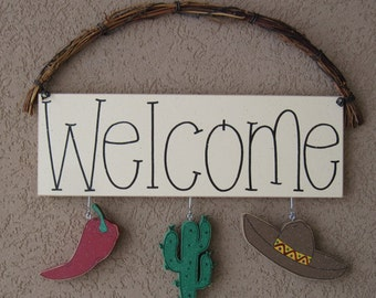 Monthly WELCOME SIGN (Cinco De Mayo) for wall and home decor