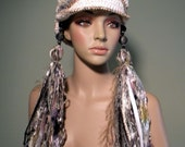 TURBAN/BEANIE TRANSFORMER - Funky Retro Style, Fiber Art Headpiece, Trendy & Versatile, Unsurpassed Quality Italian Melange