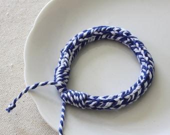 Bakers Twine Bracelet - Summer Bracelet - Friendship Bracelet - Teen Bracelet - Knitted Bracelet - Textile Jewelry - Beach Bracelet