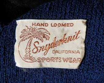 1940s Knit Dress Swingy Skirt Snyderknit Belt