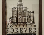 """Logan Temple Wedding decal to fit 11 x 14"""" frame"""
