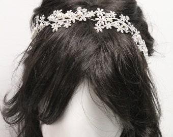 Wedding headband,Bridal hair accessories,Wedding hair jewelry,Wedding hair tiara headband,Bridal headband,Wedding hair accessories,Tiara