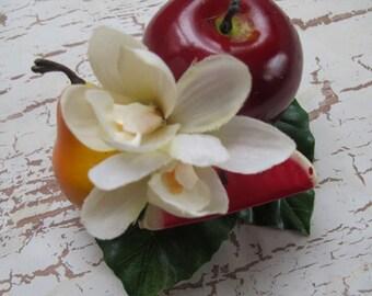 Fruits hair Clip - apple -pear -water melon - Carmen Miranda Style - Burlesque - Retro - Rockabilly