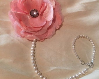 Pink Pearl Pacifier Clip