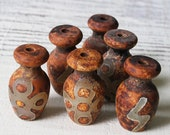 Tribal Rustic Tibetan Matte Agate Beads - Jewelry Making Supplies - Unique Rustic Pendant Bead - 1 piece