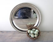 Vintage Round Silver Plate Tray