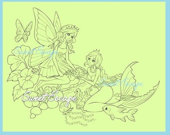 The Magic of Friendship Coloring Page
