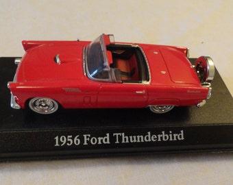 56 Ford Thunderbird Miniature Car Bright Red