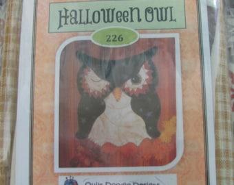 Halloween Owl applique Tea Towel Kit with Pattern
