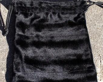 Drawstring Bag- Black Velvet