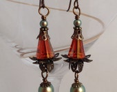 Floral Swarovski earrings
