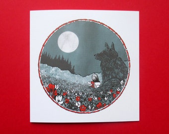 Wolfroy and Emily greeting card