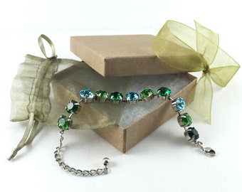 Sparklez - 11mm Swarovski Crystal Bracelet and Earrings Combo