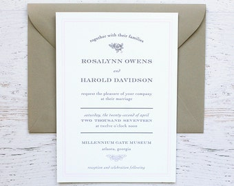 Rosalynn Custom Wedding Invitation
