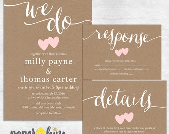 Rustic Wedding Invitation Print Sample