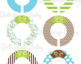 Custom Baby Closet Dividers Baby Boy Nursery Clothing Dividers Closet Organizers - DIY OR Assembled and Ready to Hang