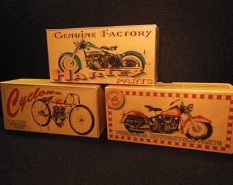Motorcycle Harley Parts Boxes