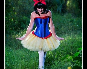 BAD APPLE Snow White Inspired Tutu and Corset Set