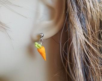 Vegan Michelle's Carrot Earrings